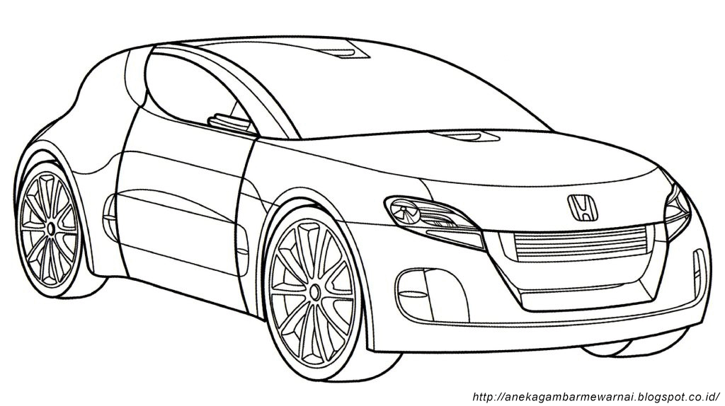 Gambar Mewarnai Mobil - Lowrider Car Coloring Pages Sketch Coloring Page
